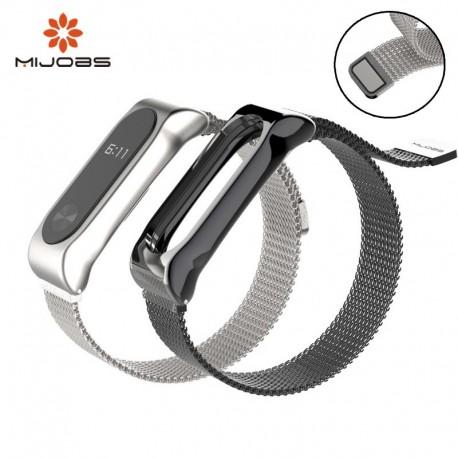 بند استیل مگنتی دستبند Xiaomi Mi Band 2