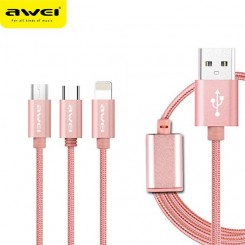 کابل سه پورت Awei 3 in 1 cable
